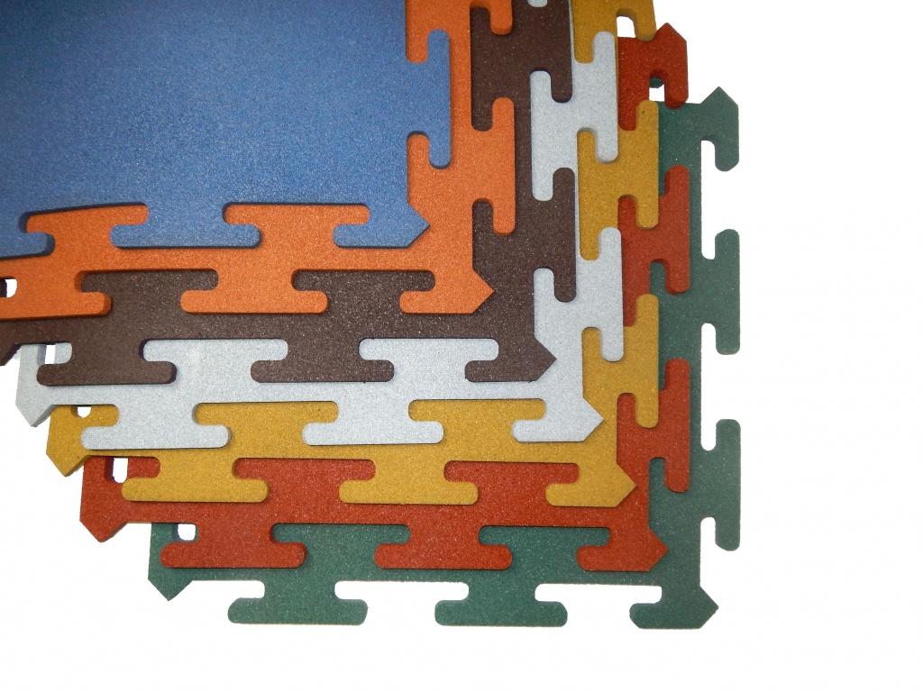 Резиновая плитка EvroPlit Rubblex Puzzle Standart
